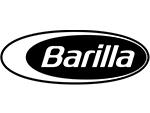 Barilla white text black background