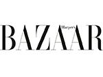 Bazzar Magazine black text white background