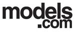 Models.com logo black text white background