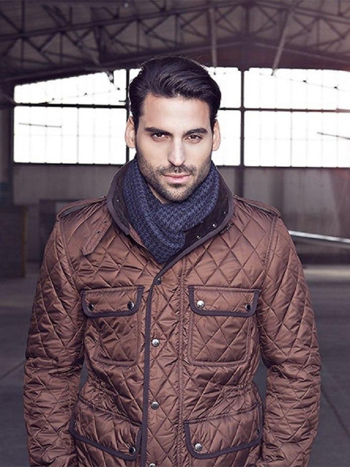 Male model Vlad standing in warehouse