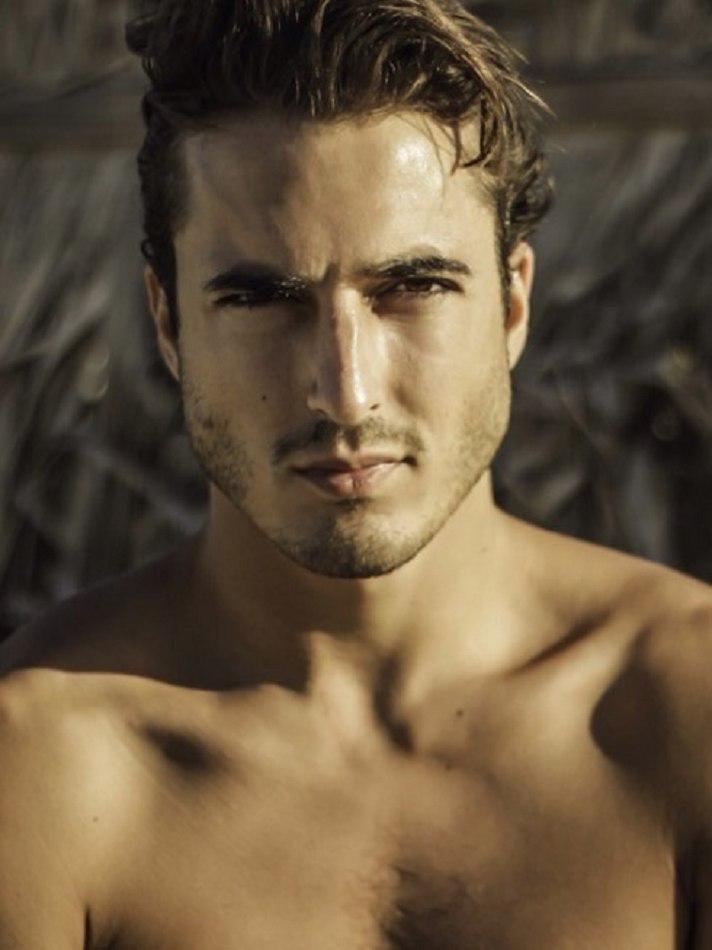 Male model Francisco M close up photo